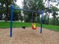 Toddler playground, swings