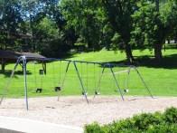 swing set, with infant swings