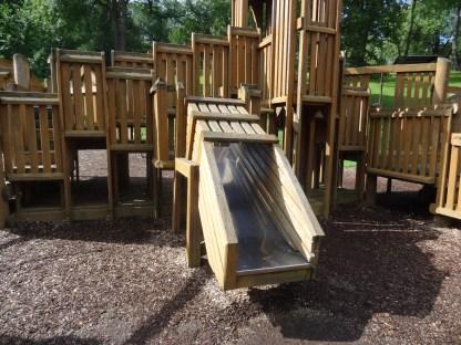 wooden tunnel slide
