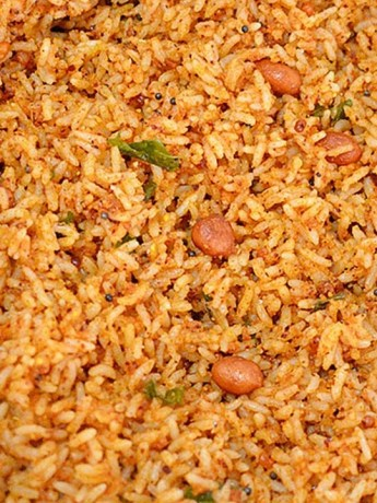 Groundnut Masala Rice Recipe