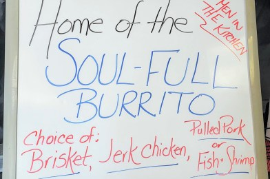 Soul-Full Burritos at Men in the Kitchen in Pennsauken