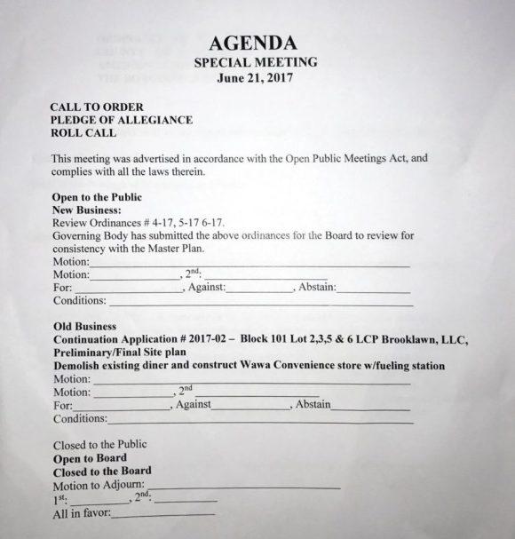 Brooklawn Planning Board