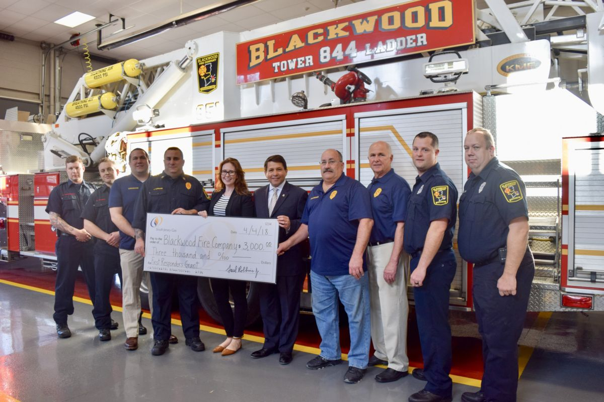 South Jersey Gas Supports Blackwood Fire Company With $3,000