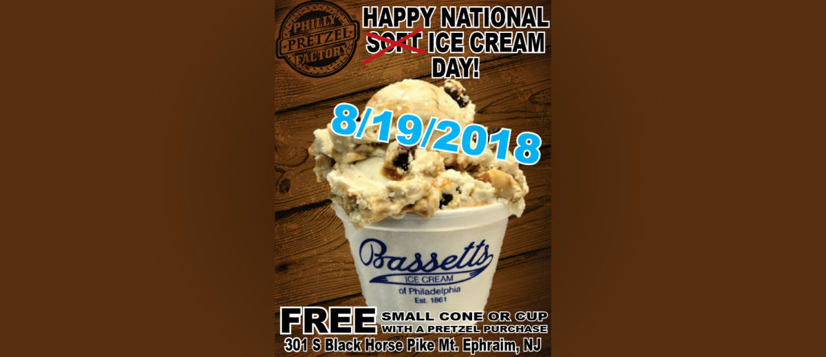 On Sunday, Celebrate National Soft Ice Cream 🍦Day at the Mt. Ephraim Philly Factory