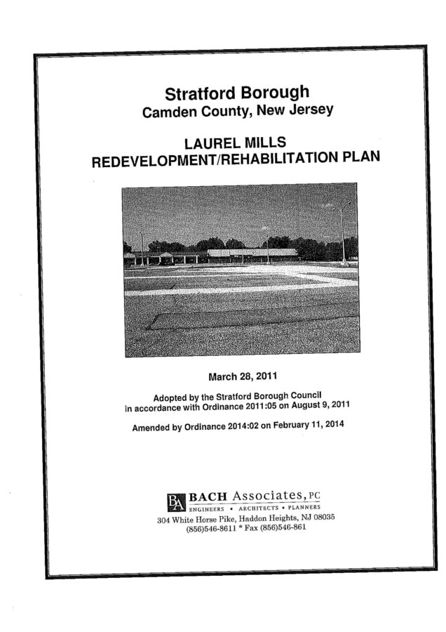 Laurel Mills Redevelopment Plan