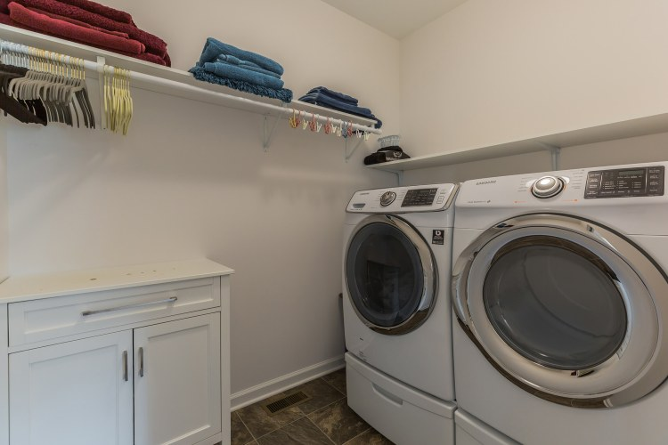 Master bedroom has its own laundry room