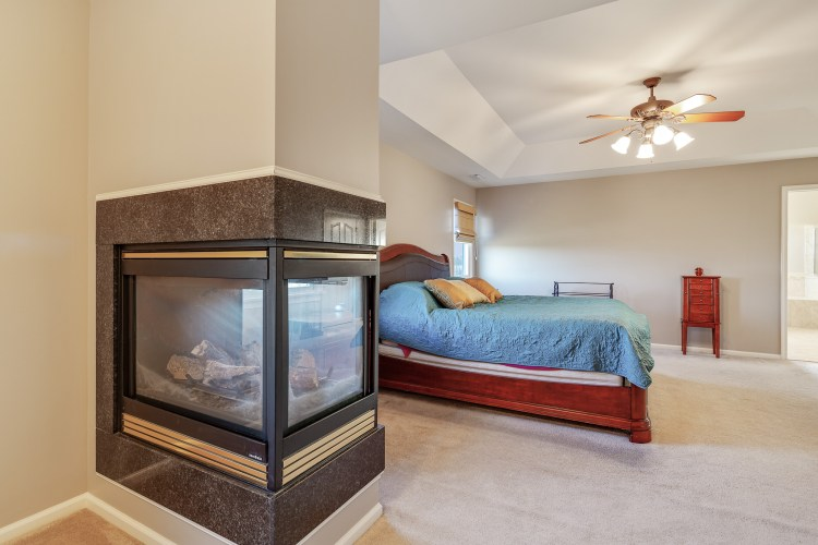 The 3 sided gas fireplace