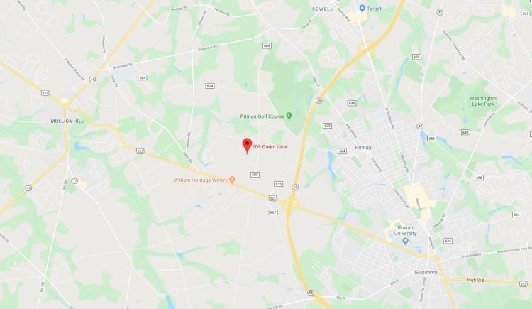 Location of 709 Green Lane