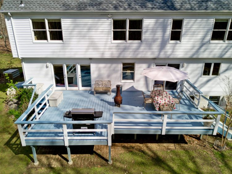 The deck at 15 Laurel Drive