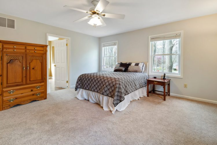 Master suite at 15 Laurel Drive