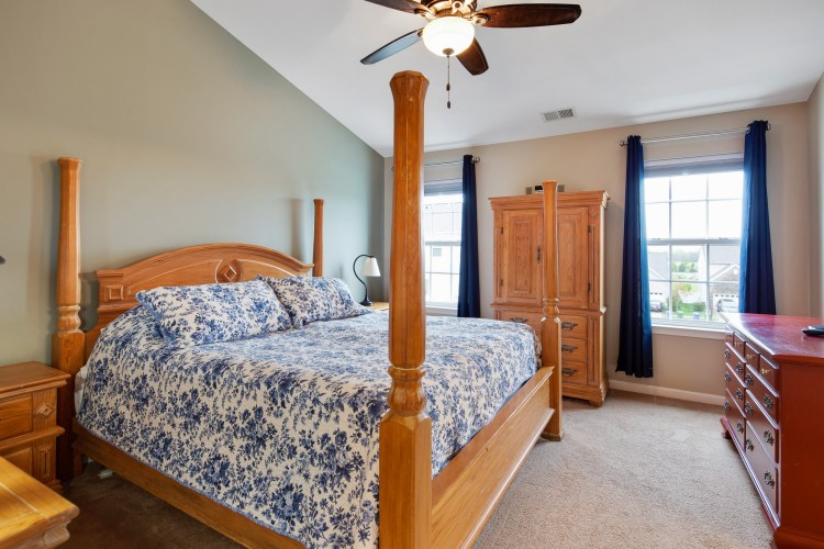 The master bedroom suite at 460 N Palace Drive