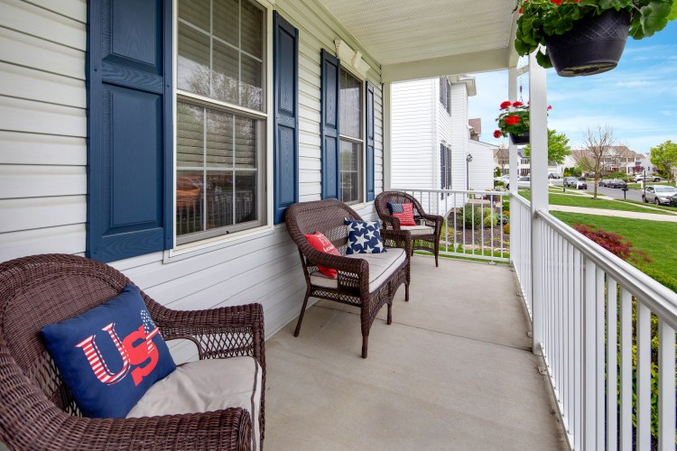 21 Honeysuckle Drive has a charming front porch