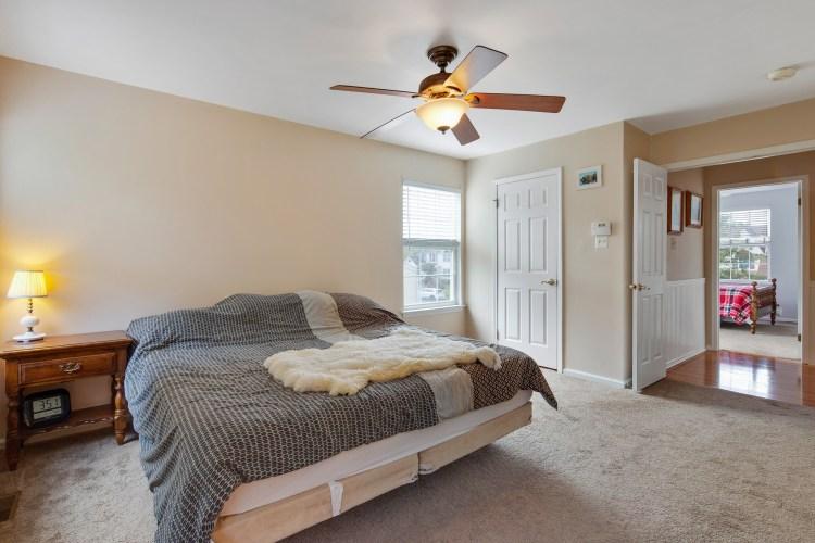 Master Bedroom has double door entrance.