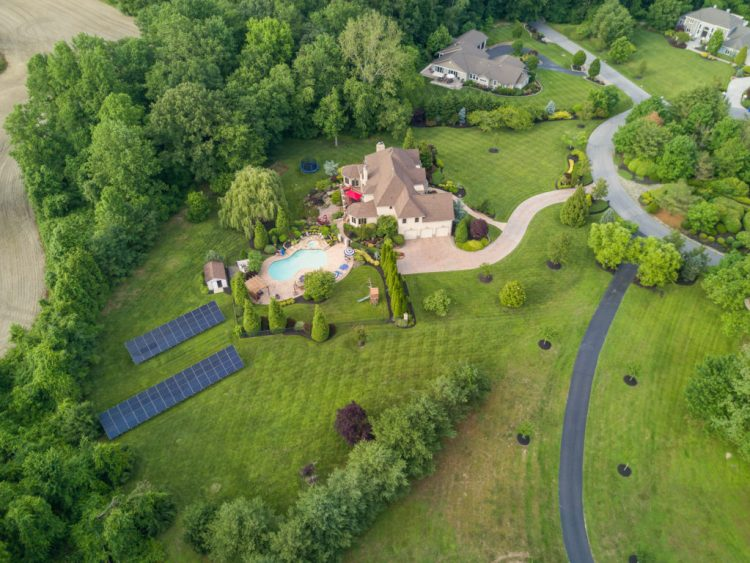 south jersey luxury homes 531 Shadowbrook traiL aerial view