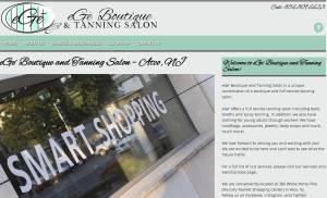 Website Design for eGe' Boutique