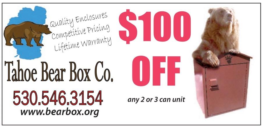 Tahoe Bear Box Company | South Lake Tahoe Coupons