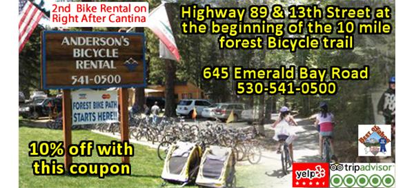 Andersons Bicycle Rental