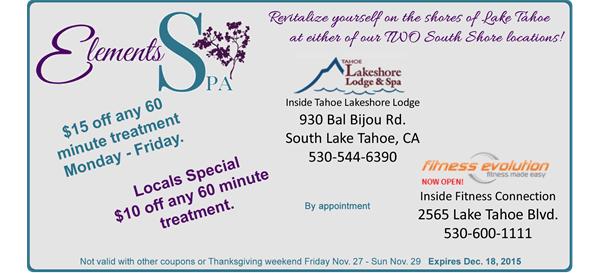List of South Lake Tahoe Restaurant Deals