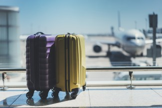 Traveling in an airport with urinary incontinence
