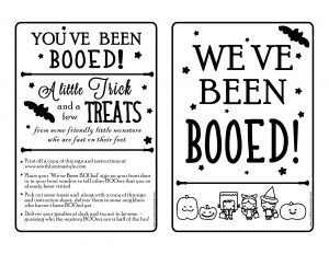 image regarding You've Been Booed Printable Pdf called Youve Been BOOed Totally free Printable - South Lumina Style and design