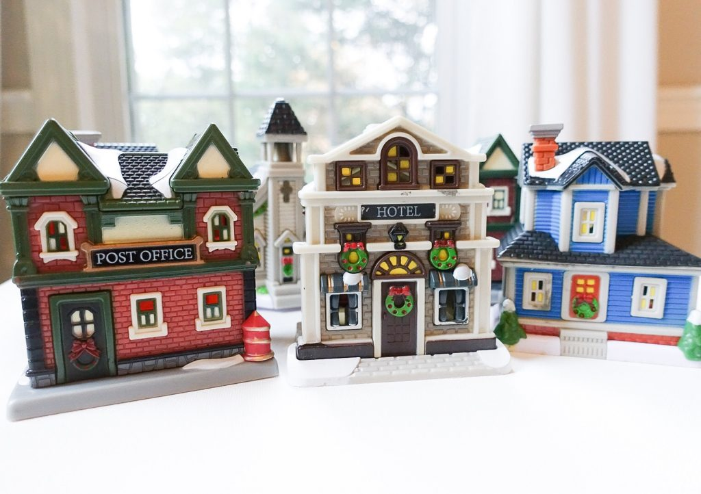 How To Store Christmas Village Houses.Diy Dollar Store Christmas Village South Lumina Style
