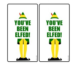 picture about You've Been Elfed Free Printable identified as Youve Been Elfed Printable Hold Tags and Reward Tags - South