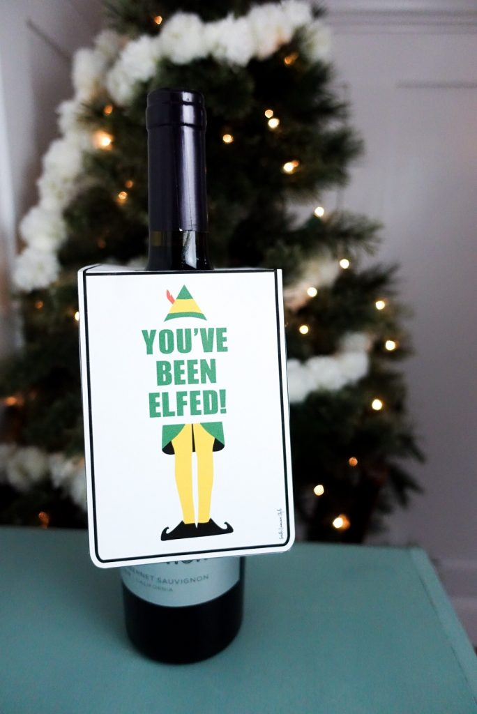 graphic regarding You Ve Been Elfed Printable identify Youve Been Elfed Printable Dangle Tags and Present Tags - South