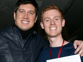 Vernon Kay with winner Richard Keep