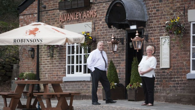 Harry and Julie Challinor at the The Alvanley Arms