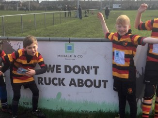 Heaton Moor Rugby Club's youngsters in their new kits