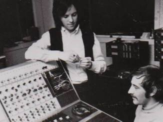 Eric Stewart and Peter Tattersall at Strawberry Studios in 1970