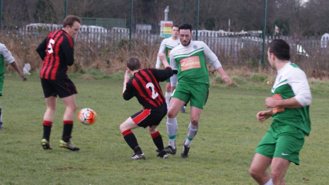 Manchester Rovers v Burnage Metro thirds (Metro in red and black)