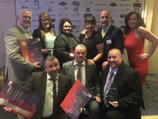 Belle Vue staff celebrate their triumphs at the 2016 UK Coach Awards