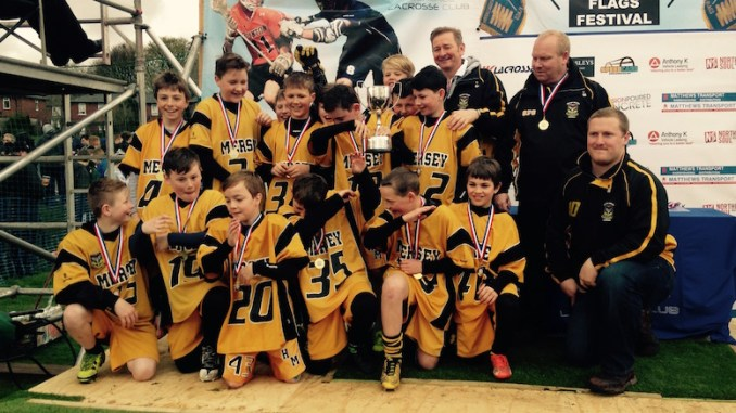 Heaton Mersey under-12s boys' lacrosse team