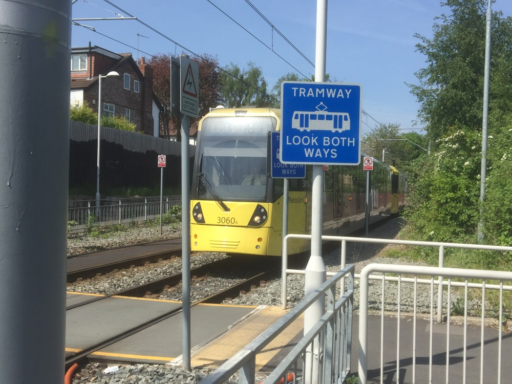 The St Werburgh's Metrolink tram stop