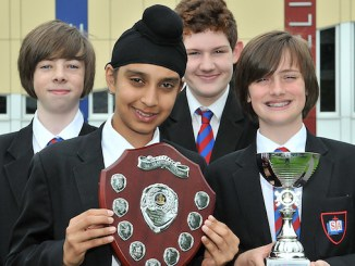 St Antony's Catholic College Boys' Brigade award winners Joshua, Akaaljop, Tommy and Max