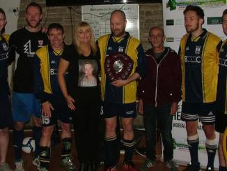 The winning BFS team with Lee Mairs' mum and dad, Darren and Joanne