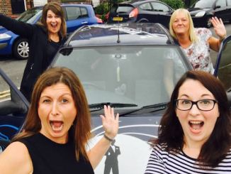 The four friends from Sale with their Ford Fiesta