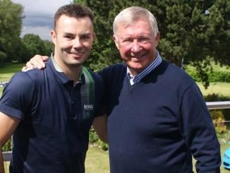Blake Norton and Sir Alex Ferguson