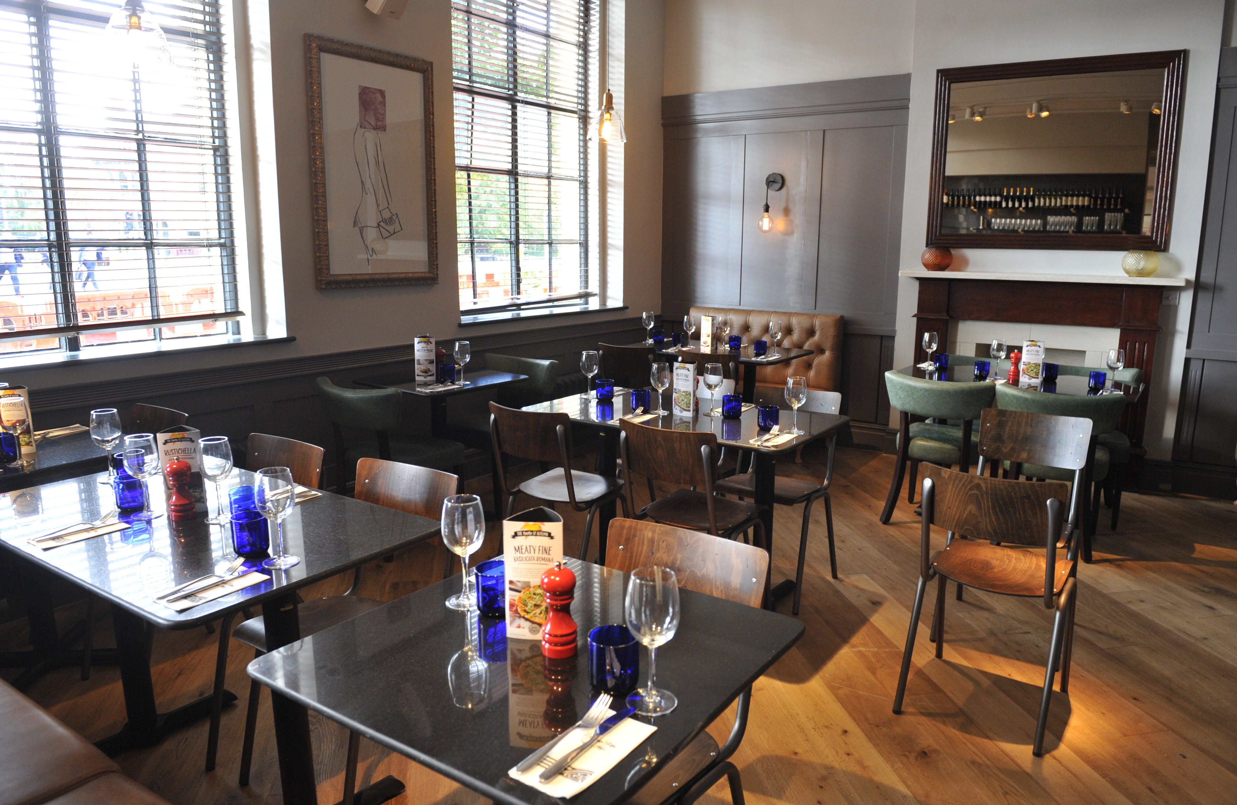 PizzaExpress in Didsbury has undergone a stunning transformation; with a wealth of stylish new design features. The re-vamped new restaurant - which has created eight new jobs - opens to the public 6pm today.