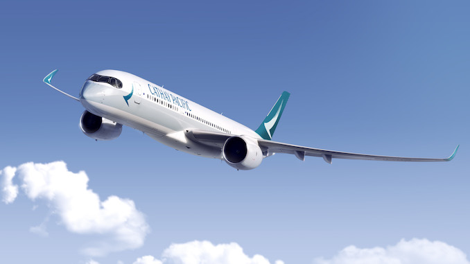 The Cathay Pacific A350