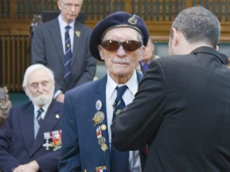 Cpl Alfred Barlow receives the Legion d'Honneur