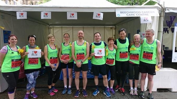 Team Beechwood at the Great Manchester Run