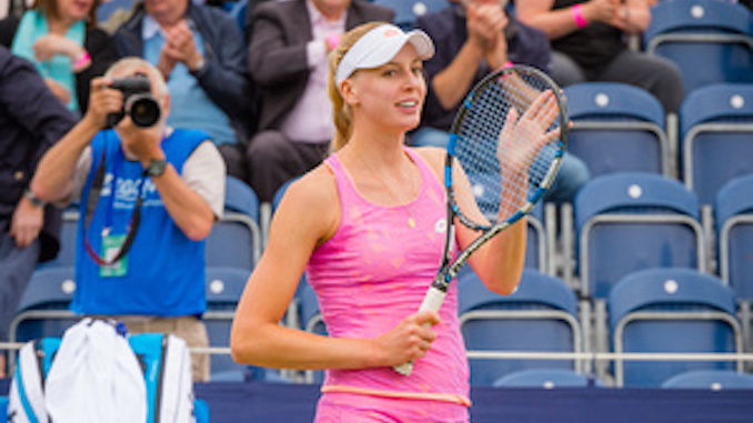 Naomi Broady at the Aegon Manchester Trophy on Friday (pic by Ben Blackall)