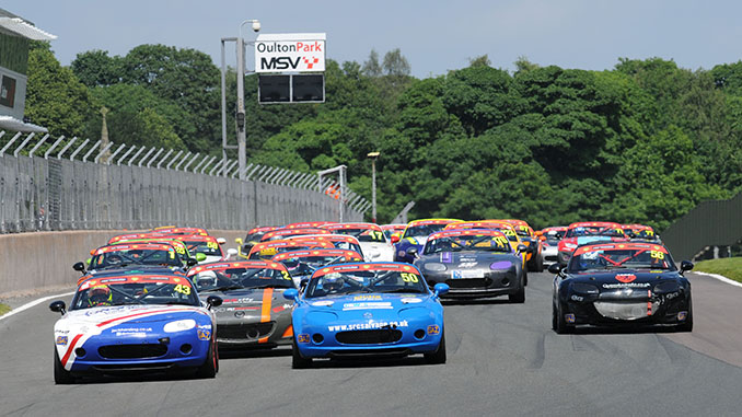 Mazda MX5's Oulton Park