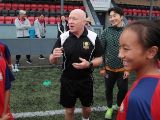 Youdan Trophy's Tosh Farrell puts the team through their paces in Stockport