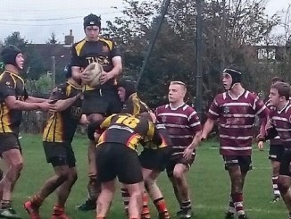 Max Savage in imperious form in the lineout for Heaton Moor