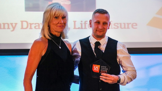 Life Leisure's Danny Drayson with his award