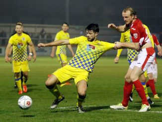Jason Oswell in action against Brackley Town
