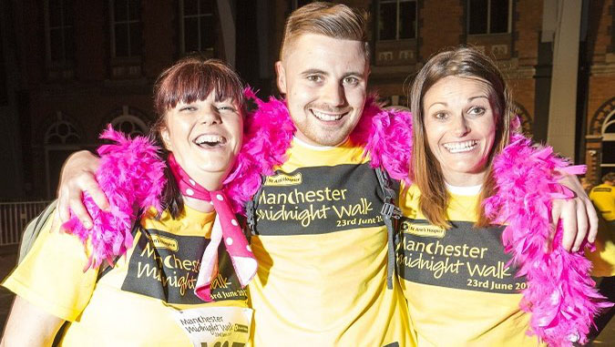 Carrie Burke, Matt Dunne and Leah Walker at last year's Midnight Walk